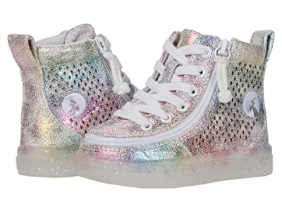 BILLY Footwear Kids Classic Lace High (Toddler) (Rainbow Crackle) Kid