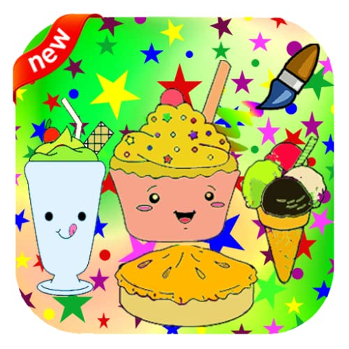 Delicious foods Coloring Book