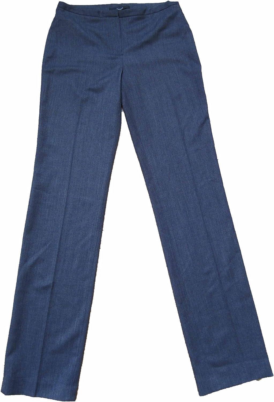 Tahari Dress Pants Terry Straight Womens Size 2 Black/grey