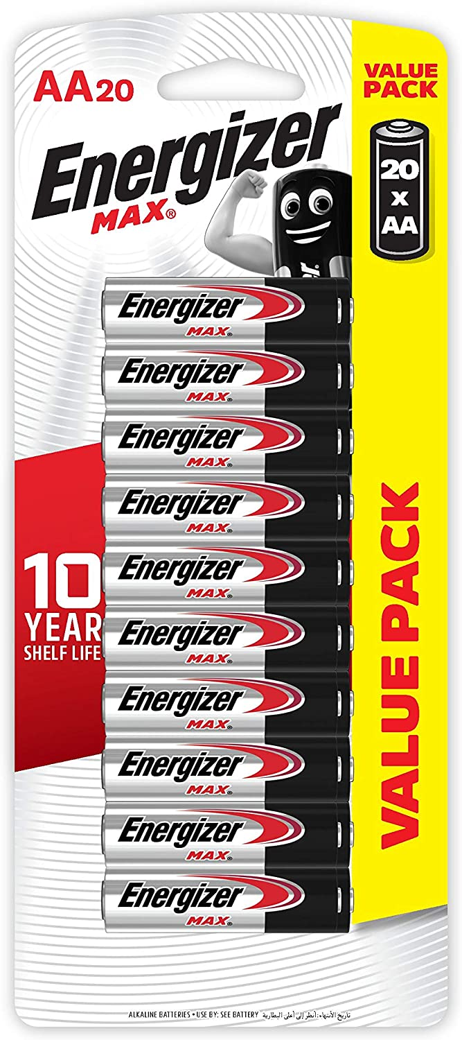 Energizer MAX Alkaline AA Batteries of Today's only Pack Quantity limited 5 4 Count