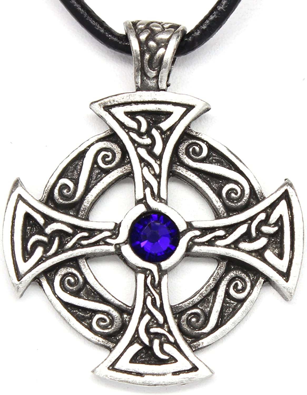 Trilogy Same day shipping Selling and selling Jewelry Pewter Solar Cross with Swarovski Austrian Cryst