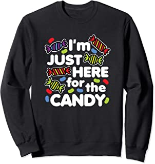 I'm Just Here for the Candy Kawaii Halloween Dark Sweatshirt