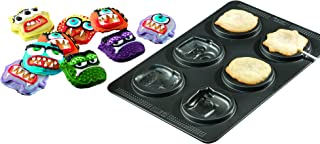 Sweet Creations 04858 6-Cup Non-Stick Monster Cake Pop Pan, Gray