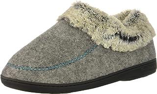 Dearfoams Women's Felted Faux Wool Bootie Slipper