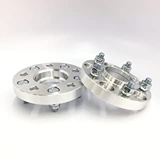 """Customadeonly 2 Pieces 1"""" (25mm) Hub Centric Wheel Spacers Adapters Bolt Pattern 5x108 Thread Pitch 14x1.5 Center Bore 63.4mm"""