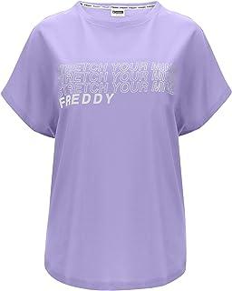 FREDDY T-Shirt a Manica Corta con Decorazione Argentata sul Fronte