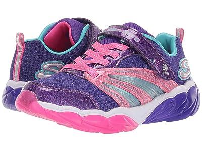 SKECHERS KIDS Sport Lighted Fusion Flash 302043L (Little Kid/Big Kid) (Purple/Neon Pink) Girl