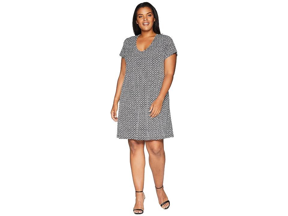 Karen Kane Plus Plus Size Quinn V-Neck Pocket Dress (Print) Women