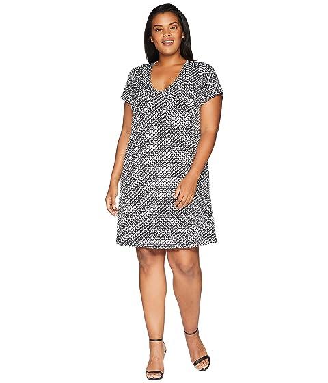 KAREN KANE PLUS Plus Size Quinn V-Neck Pocket Dress, Print
