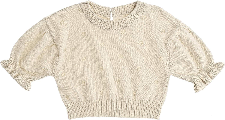 Tocoto Vintage Girls Knit Short Sleeve Top (Toddler/Little Kids/Big Kids)