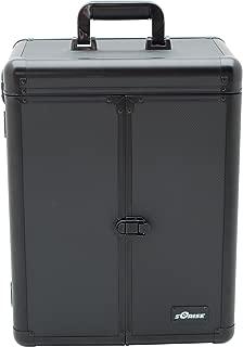 Sunrise Vecchio Heavy Duty Rolling Makeup Case Professional Nail Travel Organizer Box, Black Dot, 16 Pound