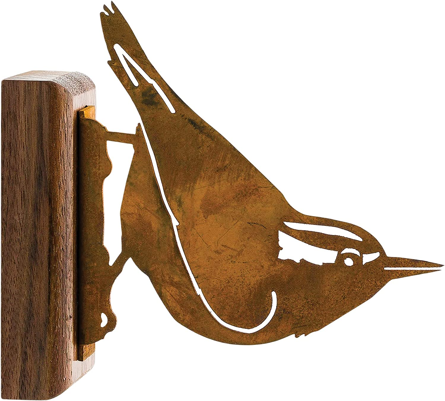 Safety and trust Elegant Garden Design Nuthatch Steel Pati with Rusty Max 76% OFF Silhouette