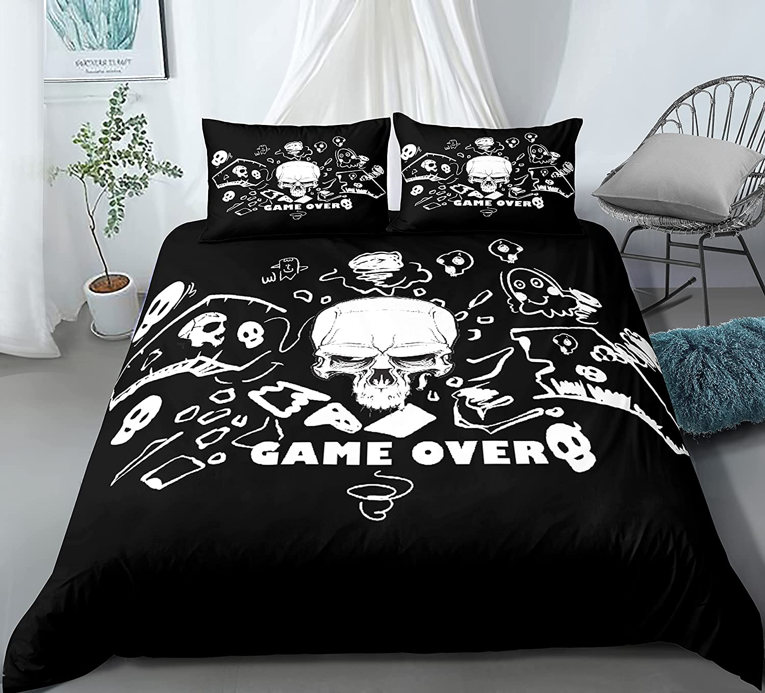 Heartgown Gamer Duvet Cover Queen Size Game Boys for Overseas parallel import regular item Girls Beddi Large discharge sale