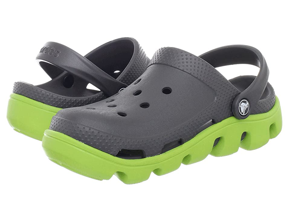 Crocs Duet Sport Clog (Graphite/Volt Green) Shoes