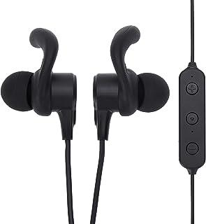 Onn - Auriculares in-ear con conexión Bluetooth y micrófono en línea para llamadas manos libres, color negro