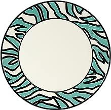 Cockatoo Collection, Zebra Stripe Platter, Blue