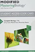 Modified Mastering Biology with Pearson eText -- Standalone Access Card -- for Campbell Biology (11th Edition)