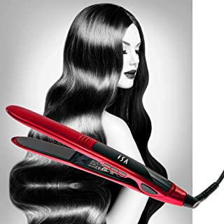 Titanium Flat Iron Digital Hair Straightener Curler ISA Professional 5 Year Warranty