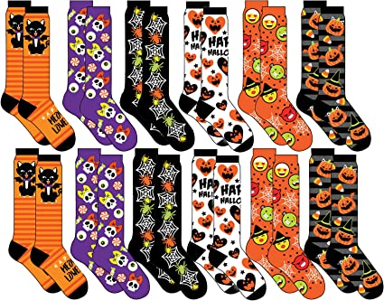 Details about  /HAPPY HALLOWEEN Socks Size 6-10