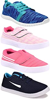 Camfoot Women's (5044-9030-9031-1162) Multicolor Casual Sports Running Shoes (Set of 4 Pair)