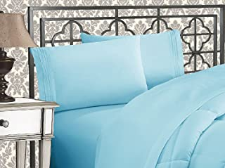 Elegant Comfort 1500 Thread Count Wrinkle & Fade Resistant Egyptian Quality Ultra Soft Luxurious 2-Piece Pillowcases, Standard Size, Aqua