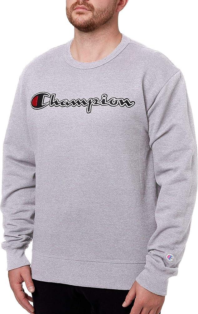 評価正規化談話[チャンピオン] メンズ パーカー?スウェットシャツ Champion Men's Stitched Script Fleece Cr [並行輸入品]