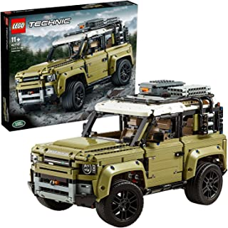 LEGO 42110 Technic Land Rover Defender Off Road 4x4 Car, Collectible Model, Advanced Building Set