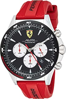 Scuderia Ferrari MEN'S BLACK DIAL RED SILICONE WATCH - 830596