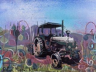 Tractor J D Pintura Original Hecha A Mano
