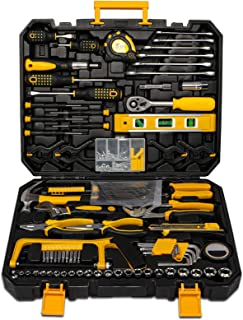 298 Pcs Home Tool Kit Set, Mechanic Tool Set for Car Motorbike Repair Daily Maintenance, Household DIY Tool Box with Tools...