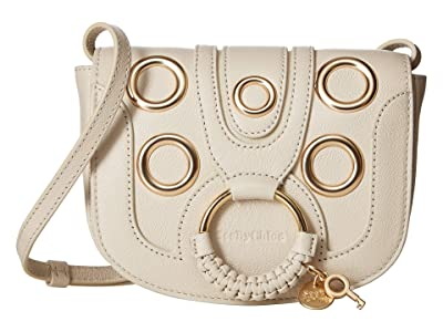 See by Chloe Mini Studded Hana Leather Crossbody (Cement Beige) Handbags