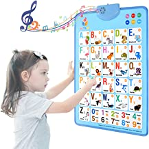 MOFANG Electronic Interactive Alphabet Wall Chart, Talking ABC & 123s & Music Poster, Best Educational Toy for Toddler. Ki...