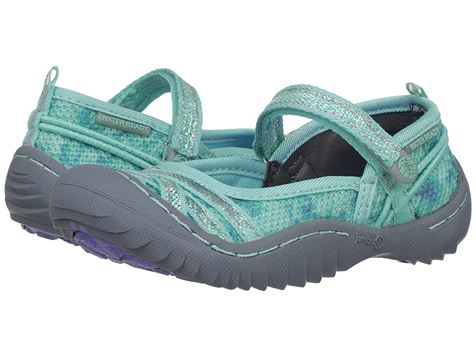 Jambu Kids Fia (Toddler/Little Kid/Big Kid) (Aqua/Floral) Girls Shoes