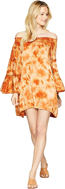"Sugar & Spice ""Paradise"" Off Shoulder Tunic Cover-Up"