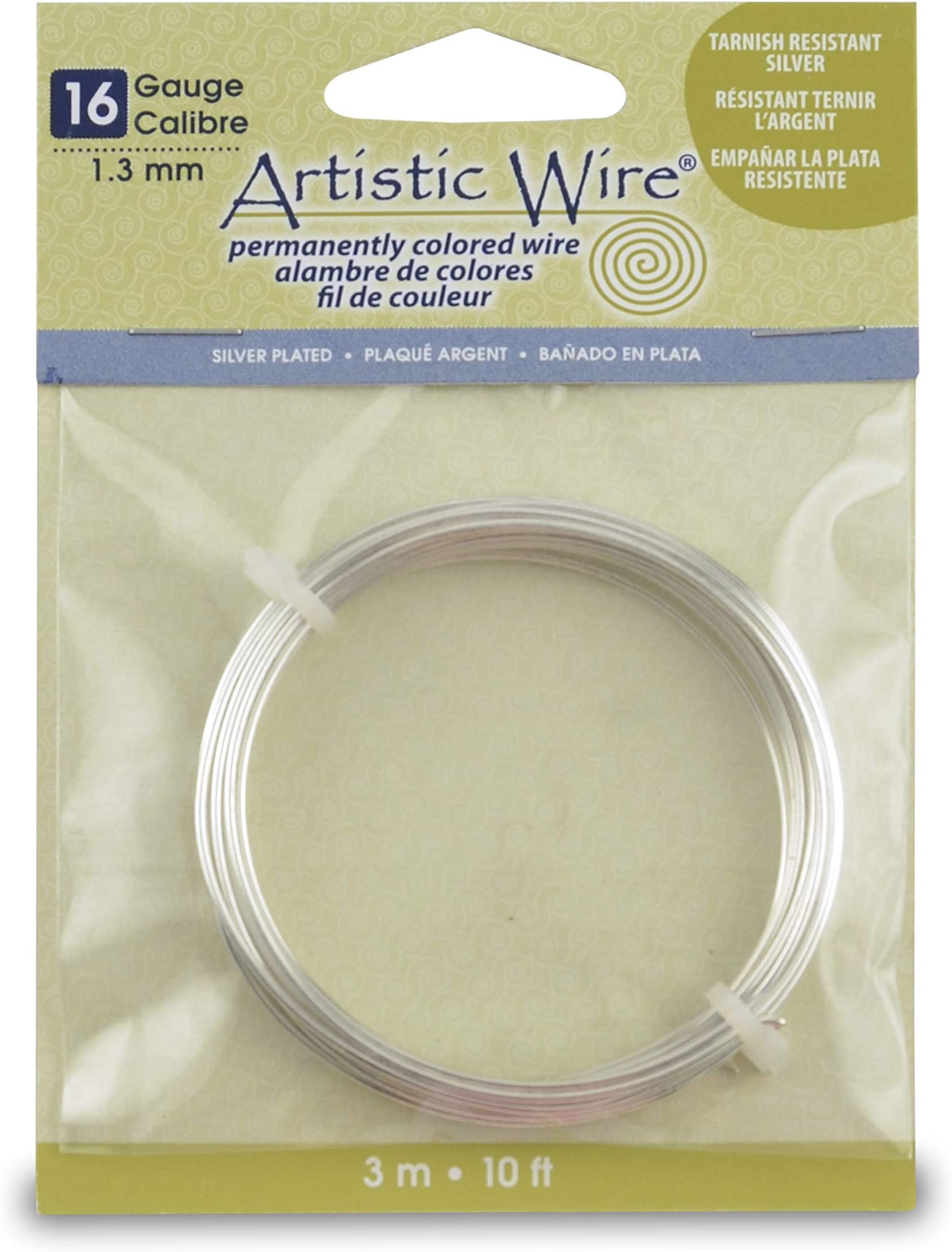 16 gauge Silver color Bead Smith Craft Wire Non Tarnish 8 yards