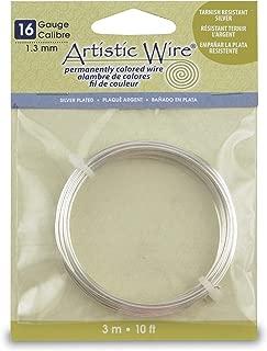 Artistic Wire 16-Gauge,Tarnish-Resistant Silver, 10-Feet