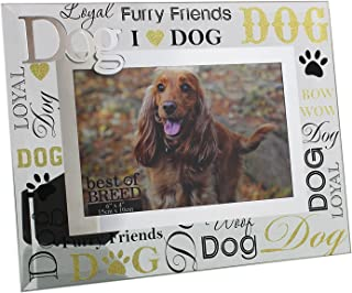 Oaktree Gifts Dog Best of Breed Glass Photo Frame 3D Words 6 x 4