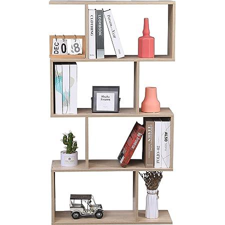 Etnicart - Librería estantería color roble oficina moderna contemporánea bicara divisorio madera casa día 70 x 23,5 x 127,5 autoportante estanterías ...