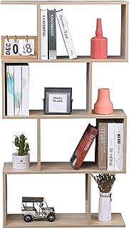 Etnicart - Bibliothèque étagère de couleur chêne bureau moderne contemporaine double face séparation en bois pour maison 7...