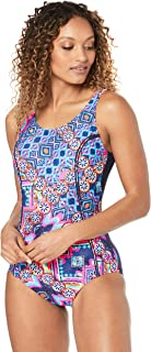 Speedo Women's Concealed D Cup Tank ONE Piece, Medal/sp NVY