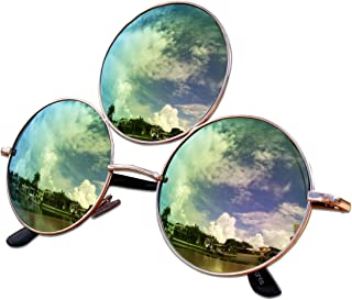 Trippy Lights Third Eye Sunglasses, Emerald Green with Pink Reflective Lens