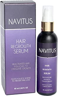 NAVITUS HAIR REGROWTH SERUM/FIGHTS FOLLICLE AGEING TO PREVENT HAIR LOSS/KERATINE HAIR/SMOOTHING HAIR.