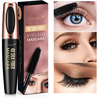 Professional 4D Silk Fiber Lash Mascara, Waterproof, Long-Lasting, No Clumping, No Smudging, Longer, Thicker, Dramatic Eyelashes, Hypoallergenic, Black