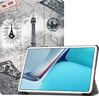 Fegishilly Tablet Case for MatePad 11 2021, Tri-fold Slim Lightweight PU Leather Smart Full Cover Case with Auto Sleep/Wak...