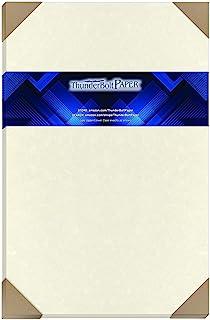 "$28 » 50 Solf White Parchment 60# Text (=24# Bond) Paper Sheets - 11"" X 17"" (11X17 Inches) Tabloid|Ledger|Booklet Size Size - 60..."