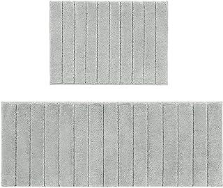 U'Artlines Lot de 2 Tapis de Bain Anti-Glissant Microfibre Absorbant Eau Super Comfort Tapis de Douche pour Salle de Bain(...