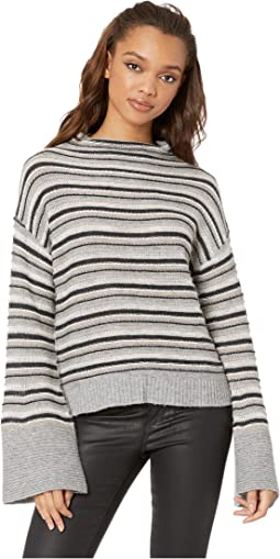 Everest Stripe Mock Neck Sweater