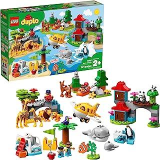 LEGO DUPLO Town World Animals 10907 Building Bricks (121...