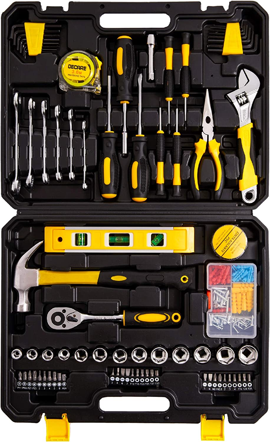 Tool Kit Set 128 Pieces Selling Indianapolis Mall Hand Household Metric - A