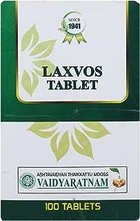 VAIDYARATNAM Laxvos Tablet -100 Tablets with Free Pachak Methi